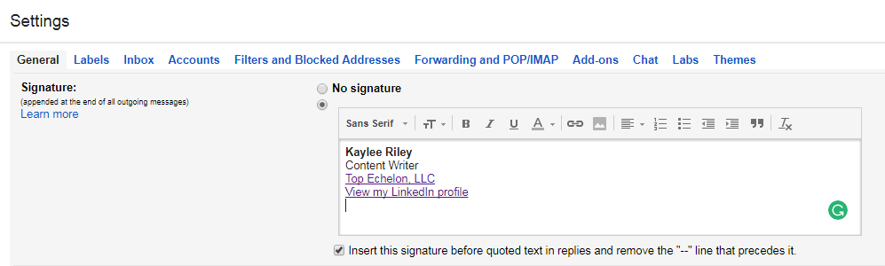 how to put the signature in pdf